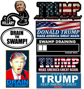 Trump Vinyl Decal Sticker Pack of 8 President Make Great Stickers Donald