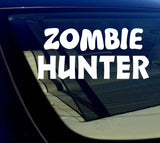 "Zombie Hunter Sticker Decal 8""- CHOOSE COLOR"