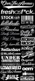 JDM Mega Sticker Pack Lot of 26 Decals Low Racing Tuner Drifting SH #OilSl