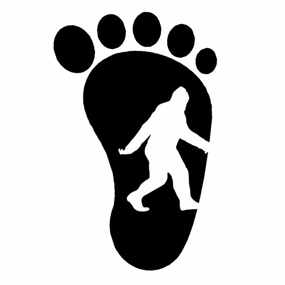 Bigfoot Yeti Footprint Squatch Sasquatch Believe Decal Sticker