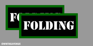 "Folding Labels 3.5"" x 1.50"" stickers decals Ammo Storage (2PACK)"