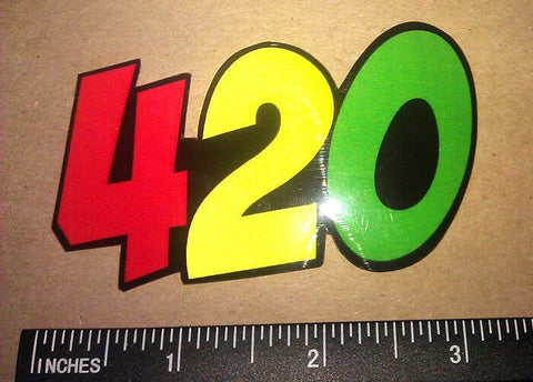 x2 / Two Pack 420 Rasta Dank Vinyl Decal Sticker Weed Pot Funny Dope (420Rasta)