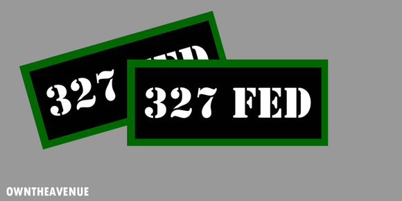 327 FED Ammo Can Labels for Ammunition Case 3.5
