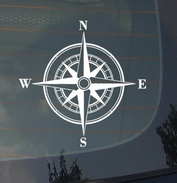 Rose Compass Sticker Decal Vinyl Off Road Sailing Boating Mud 4x4 Buggy 3.7