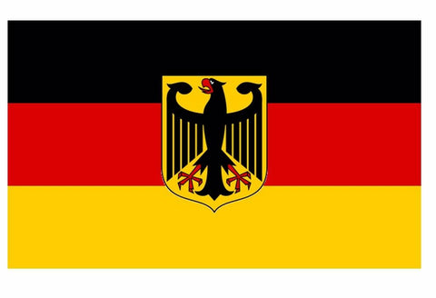 "5"" German Flag Coat of Arms Eagle Sticker Die Cut Decal Vinyl Germany"