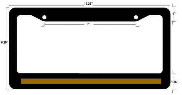 Support Dispatcher Police License Plate Frame Thin Gold Line Emergency