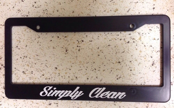 JDM Simply Clean Race Drift Shift Low Turbo Black License Plate Frame (simplyCf)