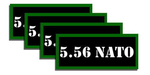 "5.56 Nato Ammo Can Labels for Ammunition Case 3.5"" x1.50"" stickers decals 4 Pack"