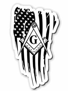 American flag masonic sticker decal Choose Size!