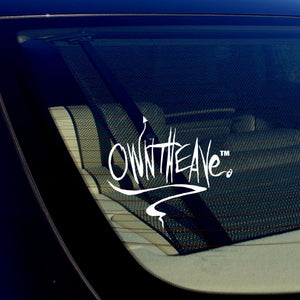 "JDM OwnTheAve. Vinyl Decal Sticker Drifting Racing Punk Cursive Style 5"" Inches"