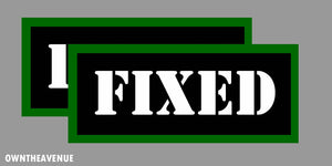 "Fixed Labels 3.5"" x 1.50"" stickers decals Ammo Storage (2PACK)"