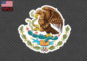 Mexican Coat of Arms Sticker Decal Mexico Flag FOR Car, Truck CHOOSE SIZE!