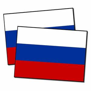 "x2 /Two 4"" Russian Russia Flag Sticker Decal Vinyl #fdra54"
