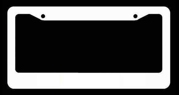 Plain White License Plate Frame Bulk Wholesale Price CA And Canada Style