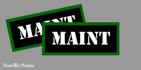 "Maint Ammo Can Labels for Ammunition Case 3.5"" x1.50"" stickers decals(2PACK)"