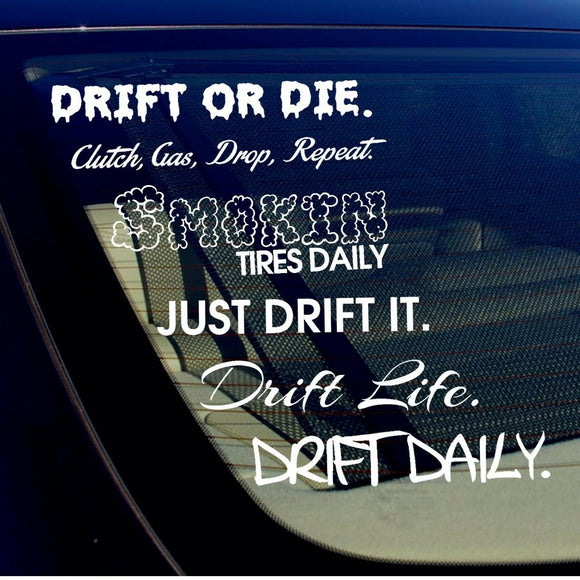 JDM Lot Pack of 6 Stickers Decals Sticker Bombing Drift Race Burn Out (6PKDrift)