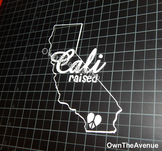 x2 / Two Cali Raised Life Vinyl Sticker Decal 6