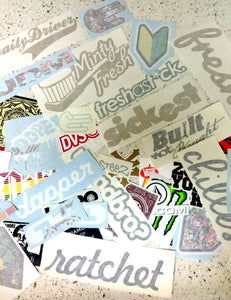 JDM, Race, Skate, Skateboard, Snowboard, 12 Random Decal Stickers Pack Lot 44D