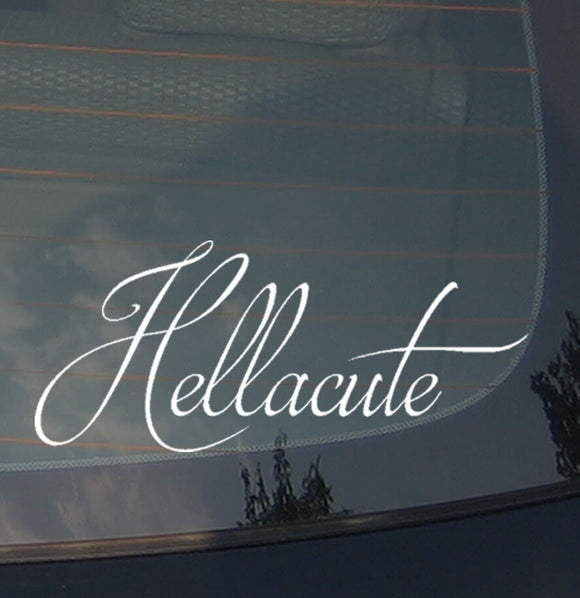 Hellacute Cute Girlie Girl Lady JDM Vinyl Decal Sticker Low 8