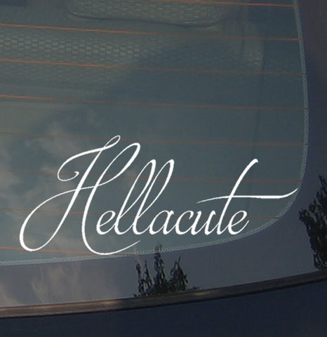 "Hellacute Cute Girlie Girl Lady JDM Vinyl Decal Sticker Low 8"" Inches"