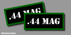 ".44 MAG Ammo Can Labels for Ammunition Case 3.5"" x 1.50"" stickers decals(2PACK)"