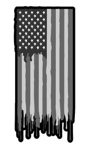Subdued American Flag Vinyl Decal Sticker Patriotic Drip Model 5""