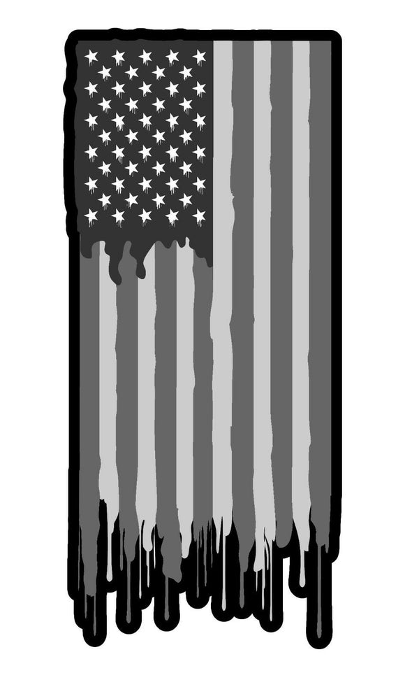 Subdued American Flag Vinyl Decal Sticker Patriotic Drip Model 5