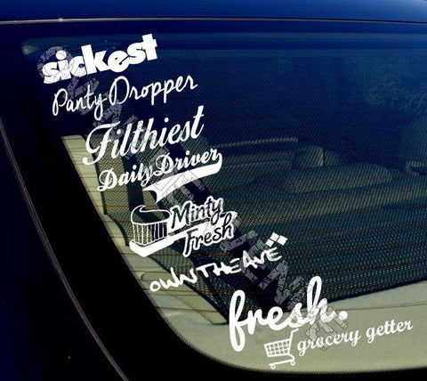 JDM Lot Pack of 8 Stickers Decals (8PKA) #132565y5