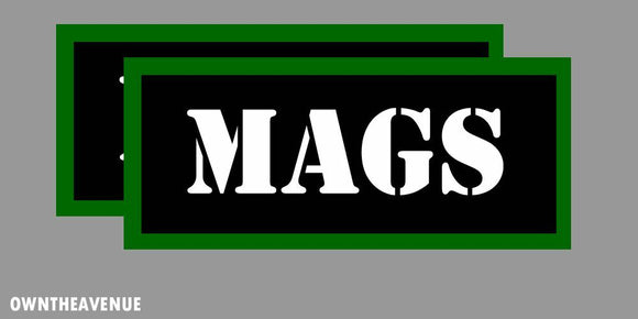 MAGS Ammo Can Labels for Ammunition Case 3.5