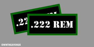 ".222 REM Ammo Can Labels for Ammunition Case 3.5"" x 1.50"" stickers decals(2PACK)"