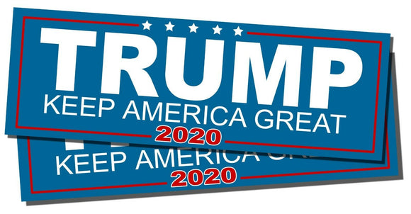 Two Pack Trump Keep America Great 2020 President Decal Bumper Sticker Donald