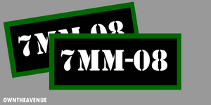 "7MM-08 Ammo Can Labels for Ammunition Case 3.5"" x 1.50"" stickers decals"