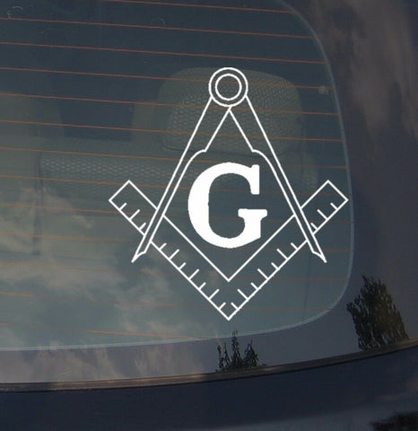 "Masonic Government Illumanati Car Decal Sticker Anarchy Conspiracy 8"" Inches Sq"