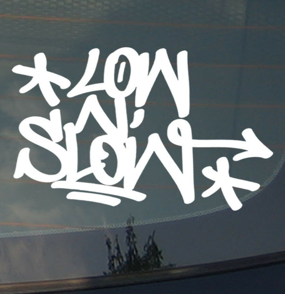 Low & Slow Funny JDM Lowered Slammed Vinyl Decal Sticker #tagLNL