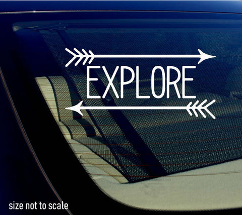 Explore Arrows Sticker Decal Hiking Outdoors Mountains 6""