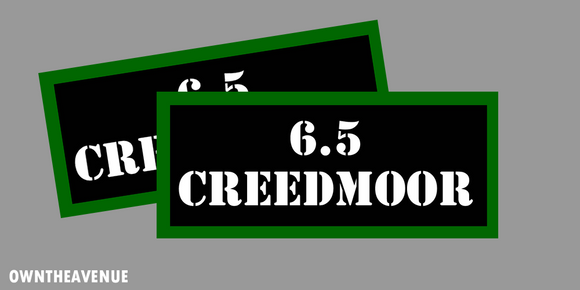 6.5 CREEDMOOR Ammo Can Labels for Ammunition Case 3.5