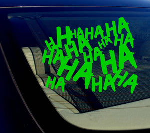 "Haha Sticker Decal Joker Serious Evil Body Window Car Green 4"" (HAHAsqVCgreen4)"