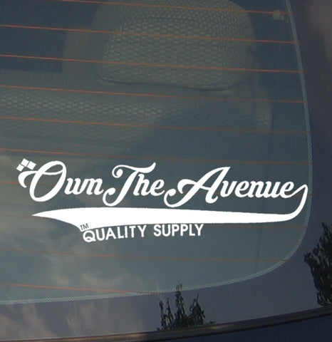 "JDM Own The Avenue Vinyl Decal Sticker Quality Supply Low Drift Race 7.5"" Ribbon"