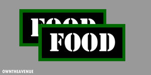 "Food Labels 7"" x 3"" stickers decals Ammo Storage (2PACK) LARGE"