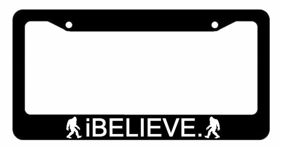 I Believe Sasquatch Yeti Bigfoot Model 2 Auto License Plate Frame