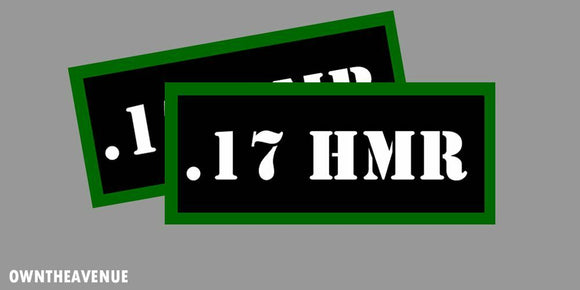 .17 HMR Ammo Can -Labels for Ammunition Case 3.5