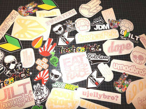 25 Random JDM Stickers Decals Pack Lot Tuner Low Drifting Racing Boost #Ng554