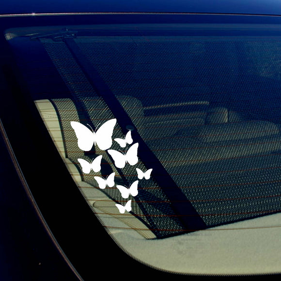 Butterfly Pattern For Laptop Tablet Auto Window Vinyl Decal Stickers 7.5