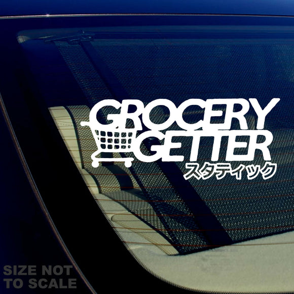 Grocery Getter Japanese JDM Racing Drifting Tuner Funny Decal Sticker 7.5