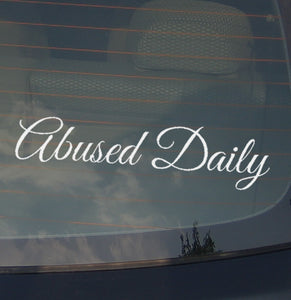 Abused Daily JDM  Car Sticker Decal Vinyl Low Drift Euro 8""