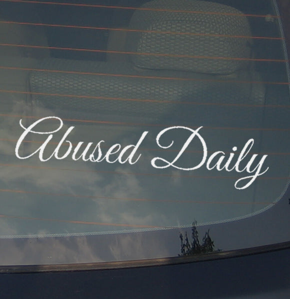 Abused Daily JDM  Car Sticker Decal Vinyl Low Drift Euro 8