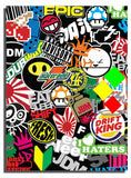 x2 JDM Sticker Bomb Black License Plate Frame DIY Model#74647