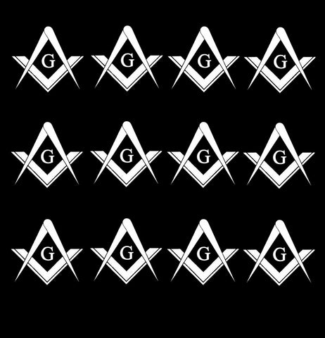 "Freemason Mason Masonic Pack Lot Vinyl Decal Sticker 2"" Inches Each"