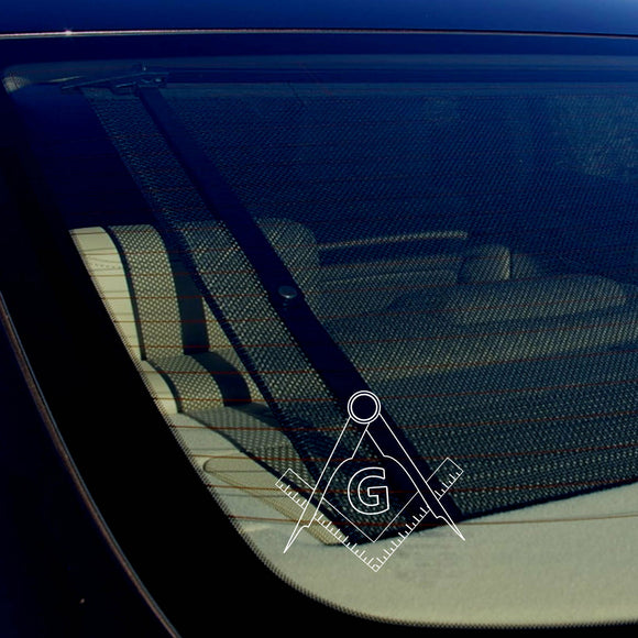Freemason Decal Bumper Window Sticker Masonic Compass Government 5