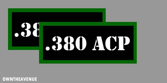 .380 ACP Ammo Can Labels for Ammunition Case 3.5